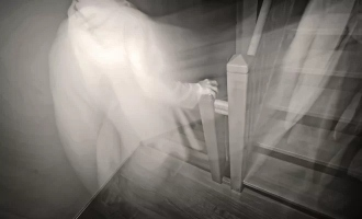Ghost who hurt one year old baby caught on video footage
