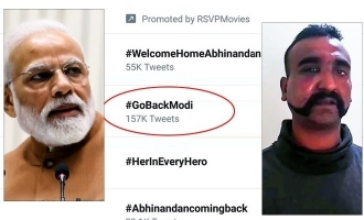 GobackModi and WelcomeAbinandhan trends in twitter