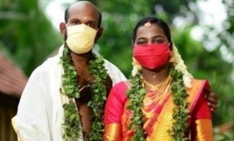 Actor gets married to longtime lover wearing masks