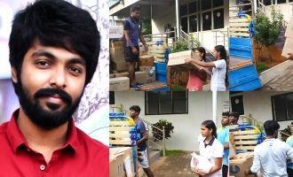 கஜா புயல் பாதிப்பு: 2 லாரிகளில் உதவிப்பொருட்களை அனுப்பிய ஜிவி பிரகாஷ்