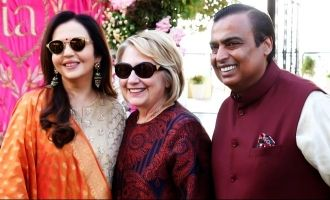Hillary Clinton arrives in India for Isha Ambani's wedding
