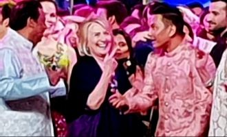 Hillary Clinton performs Bhangra at Isha Ambani's sangeet