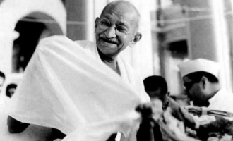 Mahatma Gandhi's ashes urn stolen and shocking word written on his portrait