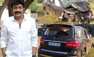 Veteran hero Dr. Rajasekhar involved in car accident