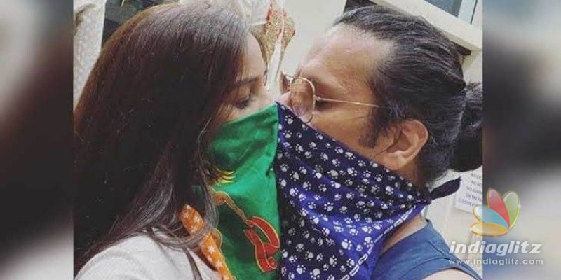 Poonam Pandeys Corona kiss with boyfriend turns viral!