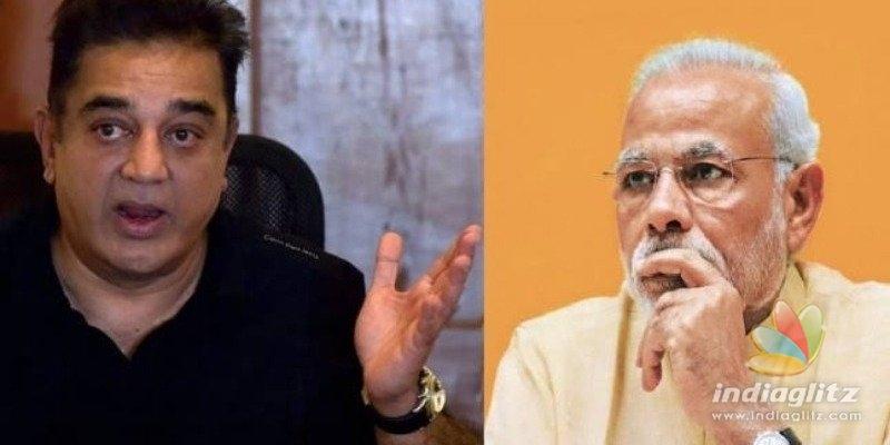 Call me an antinational, but your vision failed this time! - Kamal Haasan slams Modi govt!