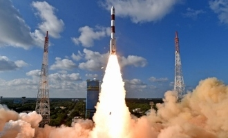 ISRO successfully launched pslv c48 rocket with risat2br one spy satellite and 9 others today