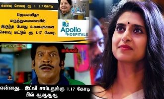 Kasturi and netizens troll Apollo's idli