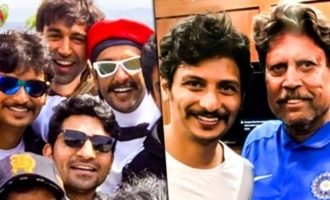 Jiiva Starts Cricket Training with Kapil Dev
