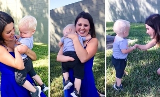 Heart Melting! Child with Amputated Limb Hugs Stranger for This Reason