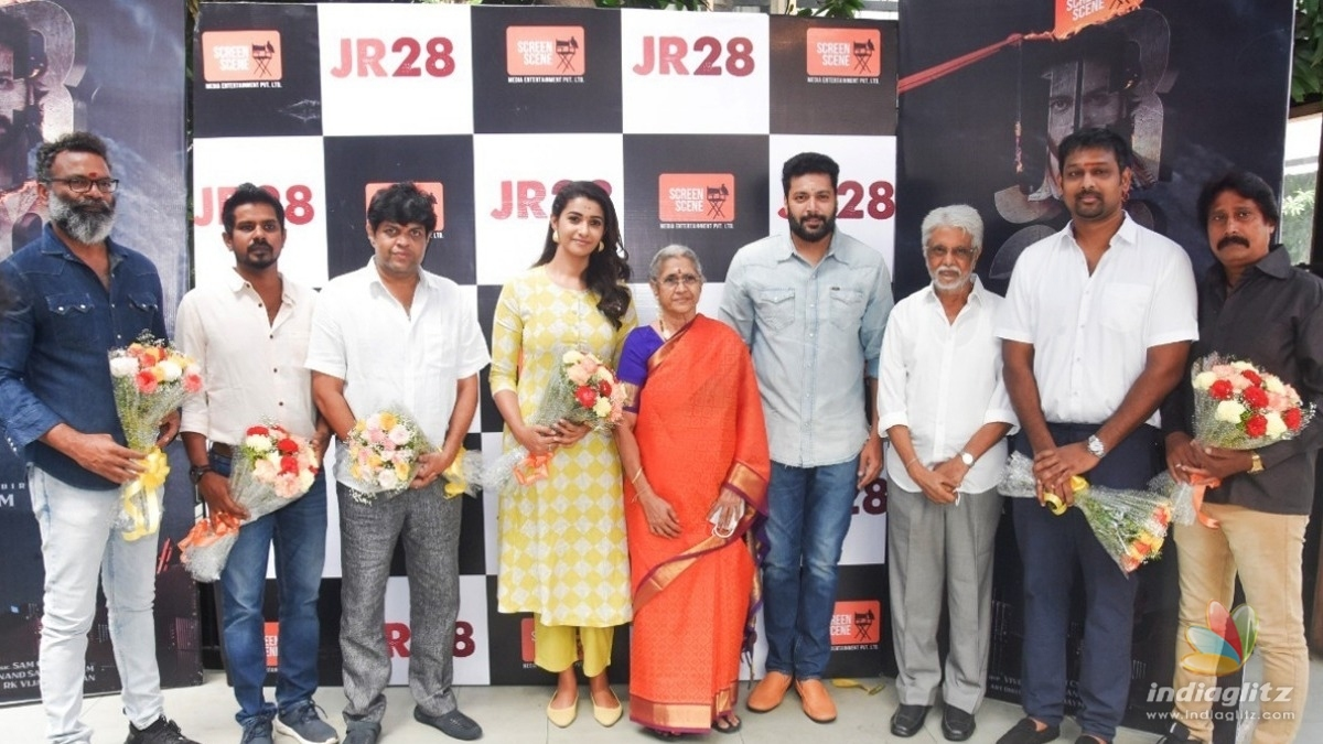 Jayam Ravi celebrates birthday at the pooja of his new film! - Hot update