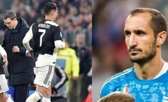 juventus captain giorgio chiellini slams cristiano ronaldo not leaving italian club early poor form manchester united transfer