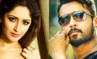 Suriya and Sayyeshaa shoot at exotic locale!