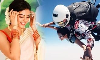 Kalyani Priyadarshan shares thrilling skydiving experience, photos viral!