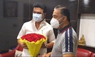 Kamal Haasan meets TN Chief Minister M.K. Stalin pics go viral
