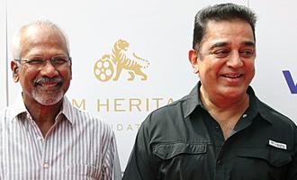 Kamal and Mani Ratnam At Viacom 18 & Film Heritage Foundation Press Meet
