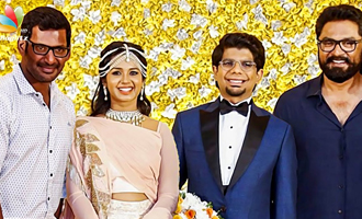 Vishal, Sarath Kumar at Kamala Theatre Owner Chidambaram's Son Wedding Reception