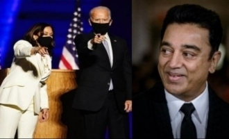 Joe Biden Kamala Harris US election victory Kamal Haasan congratulations message