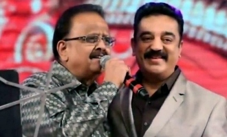 Kamal Haasan pays tribute to SPB on his first death anniversary.