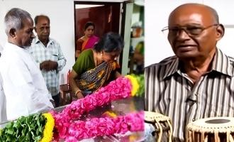40 வருடம் பணிபுரிந்த தபேலா கலைஞருக்கு இசைஞானி இறுதி மரியாதை!