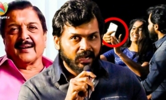 Karthi Expresses Anger Over Sivakumar Selfie Issue