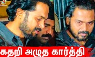 Karthi cries uncontrollably for his hardcore fan death