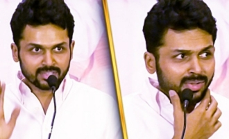 This is a very big betrayal:  Karthi, Ponvannan Speech