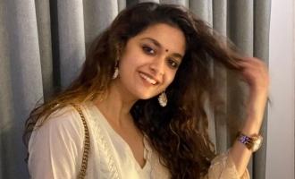 Keerthy Suresh steals hearts in simple girl next door photos for Vijaya Dashami