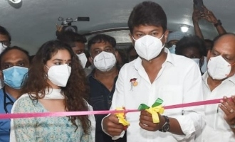 Udhayanidhi Stalin and Keerthy Suresh inaugurate Linguswamy's new COVID 19 hospital