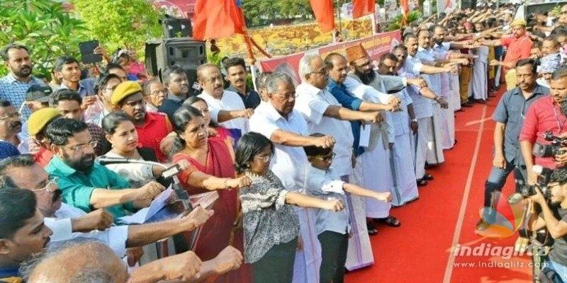 கேரளாவில் குடியுரிமை சட்டத் திருத்தத்திற்கு எதிராக 620 கி.மீ. மனித சங்கிலி போராட்டம்
