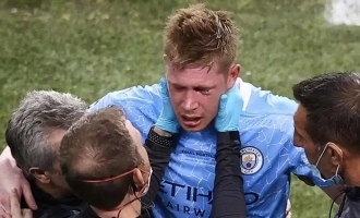 Manchester City midfielder fractures nose, eye socket in Champions League final