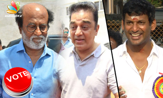 Rajinikanth, Kamal Hassan casts vote at Producers Council Elections 2017