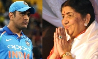Lata Mangeshkar requests MS Dhoni to not retire on Twitter