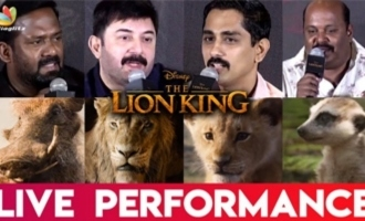My experience acting with real Lion - Siddharth at The Lion King Tamil Press Meet