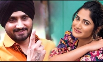 Harbhajan Singh gets emotional wearing traditional Tamil dress for song with Losliya