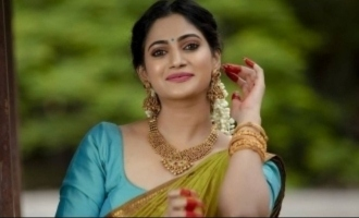 Losliya stuns in half saree for Diwali special photo shoot