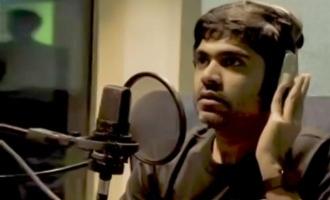 Silambarasan shares a sneak peak of Maanaadu dubbing session