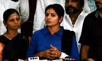 Madhumitha meets press regarding police complaint