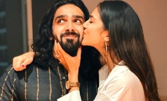 Master heroine Malavika Mohanan sweet kiss for her brother
