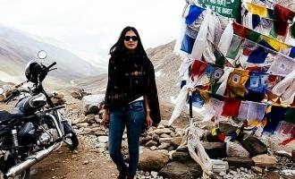Malavika Mohanan says about her bike ride in Himalaya