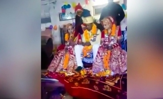 madhya pradesh gudawali man marries two sisters same time video garland exchange goes viral