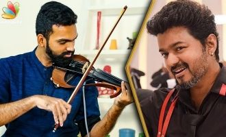 WOW : That Moment When Thalapathy Comes On Screen | Violinist Manoj