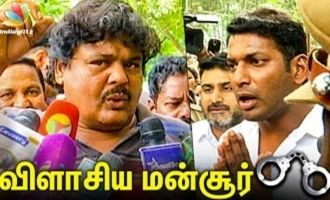 Mansoor Ali Khan Angrily Questions Police on Arresting Vishal