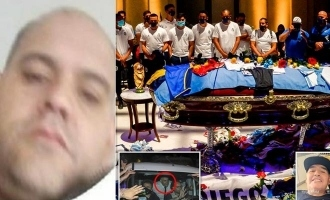 Man posts selfie with Maradona's dead body; gets death threats