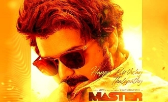 Vijay in Master movie poster released on 12AM