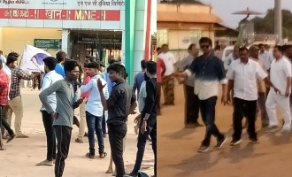 Vijay fans gather at 'Master' shooting spot against BJP cadres - Police lathi charge