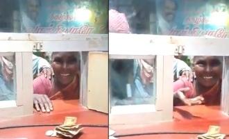 'மாஸ்டர்' பார்க்க வந்த ஏழைப்பெண்ணுக்கு திரையரங்கு ஊழியர் தந்த இன்ப அதிர்ச்சி: வைரல் வீடியோ