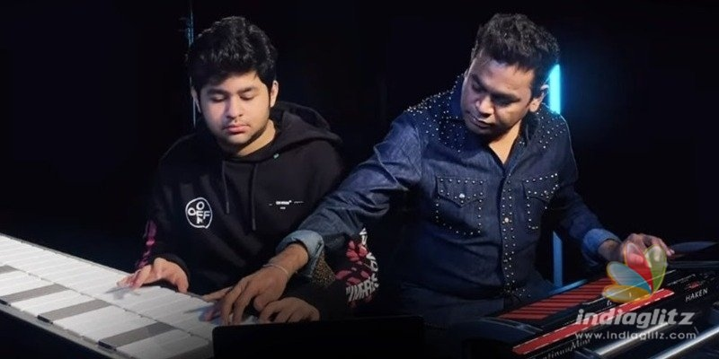 Rare Video! A.R. Rahman and A.R.Ameen creating music together