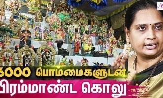 வித்தியாசமான விநாயகர் சிலைகளுடன் கொலு… அசத்தும் சென்னை பெண்!!!