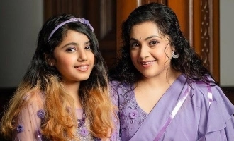 Actress Meena with daughter: photoshoot picture goes viral!